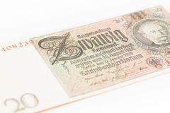 Twenty Reichsmark Royalty Free Stock Image
