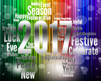Twenty Seventeen Represents 2017 New Year And Annual Stock Images