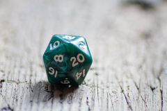 Twenty sided dice Royalty Free Stock Images