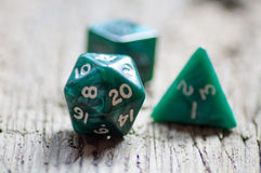 Twenty sided dice Stock Photo