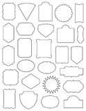 Twenty Six Classic Frames Set. A Collection of frames in various shapes. Twenty Six different frames. Easy to edit royalty free illustration