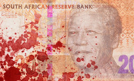 Twenty South African Rand, blood Stock Photography