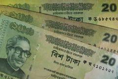 Twenty Taka bills, Bangladesh. Stock Image
