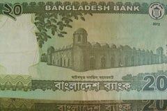 Twenty Taka bills, Bangladesh. Bangladeshi banknotes are among the most dirty, contaminated ones in the world Stock Photography