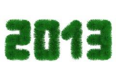 Twenty thirteen year christmas tree font. 2013 christmas tree font. Isolated on white Stock Image