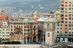 Twenty-three-meter tower Guard and city. Savona, Italy Stock Photo