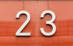 Twenty three Royalty Free Stock Image