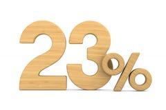 Twenty three percent on white background. Isolated 3D illustrati. On Vector Illustration