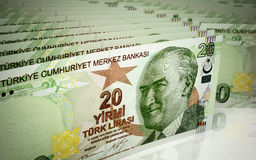 Twenty turkish lira Stock Photo