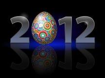 Twenty Twelve year. Easter. Illustration on black background Stock Photography