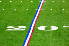 Twenty-yard line Royalty Free Stock Image