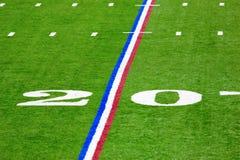 Twenty-yard line. Image of a twenty yard line in the Lucas Oil football stadium in Indianapolis Royalty Free Stock Image