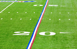 Twenty-yard line. Image of a twenty yard line in the Lucas Oil football stadium in Indianapolis Stock Photography