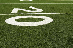 Twenty yard line Royalty Free Stock Photos