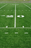 Twenty Yard Line on American Football Field Stock Images