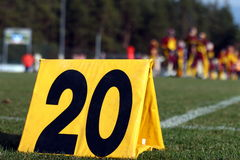 Twenty yard line Stock Photography