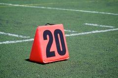 Twenty Yard Line Marker Stock Photography