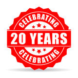 Twenty years anniversary celebrating icon Stock Photos