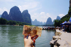 Twenty yuan background Royalty Free Stock Photo