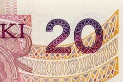 Twenty zloty close up Stock Photo
