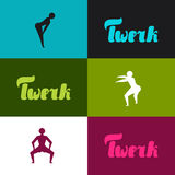 Twerk and booty dance background for dancing Royalty Free Stock Image