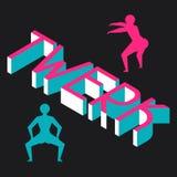Twerk et fond de danse de butin pour la danse Image libre de droits
