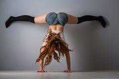 Free Twerk Redhead Woman In Jeans Shorts Stock Photos - 86597123