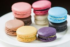 TWG Tea salons and boutiques Full flavour macarons deserve the South African red tea Stock Photography