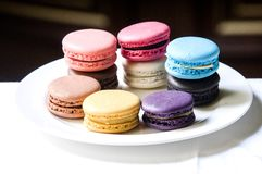 TWG Tea salons and boutiques Full flavour macarons deserve the South African red tea Stock Photo