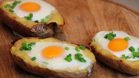 Twice baked potato Stock Images