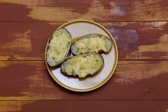 Twice baked potatoes Royalty Free Stock Photography