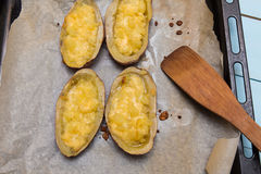 Twice baked potatoes Royalty Free Stock Photography