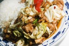 Twice cooked pork in garlic sauce Stock Photos