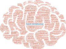 Twice Exceptional Word Cloud Royalty Free Stock Photo