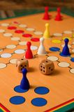 Twice one on woode dices on Ludo board royalty free stock photography
