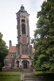 Twierdzi ewangelicką sztukę Nouveau kościelny Hrob z wierza, czech Fotografia Royalty Free