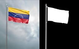 Twierdzi flagę Bolivarian republika Wenezuela ilustracja wektor