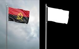 Twierdzi flagę republika Angola z alfa kanałem royalty ilustracja