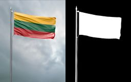 Twierdzi flagę Uroczysty Duchy Luksemburg royalty ilustracja
