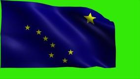 Twierdzi Stany Zjednoczone Ameryka, usa stan, flaga Alaska, Juneau, zakotwienie Styczeń 3 1959 - pętla ilustracja wektor