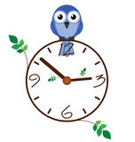 Twig clock Royalty Free Stock Images