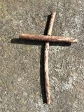 The twig cross royalty free stock photo