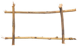Twig frame Royalty Free Stock Images