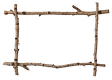 Twig frame Stock Images