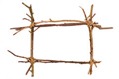Twig frame Royalty Free Stock Photography