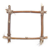 Twig frame Royalty Free Stock Photos