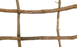 Twig frame isolated Royalty Free Stock Images