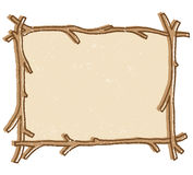 Twig Frame vector. Illustration of a twig stick frame isolated on a white background + vector eps Royalty Free Stock Image