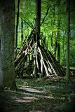Twig Tepee. A tepee made out of small logs Stock Photography