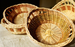 Twiggy baskets Stock Photos